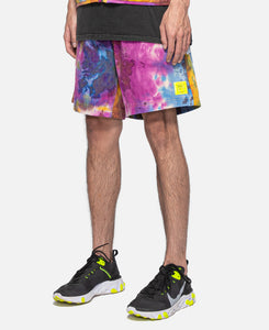 Reflective Logo Head PVC Beach Short (Multi)