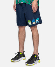 Mushroom Patch Nylon Beach Short (Navy)