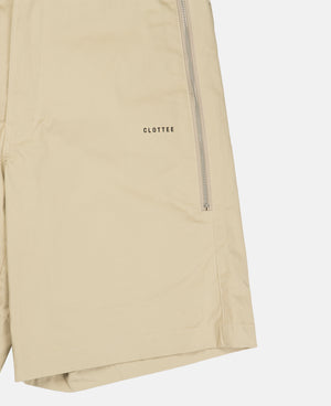 ZIP POCKET SHORTS (BEIGE)