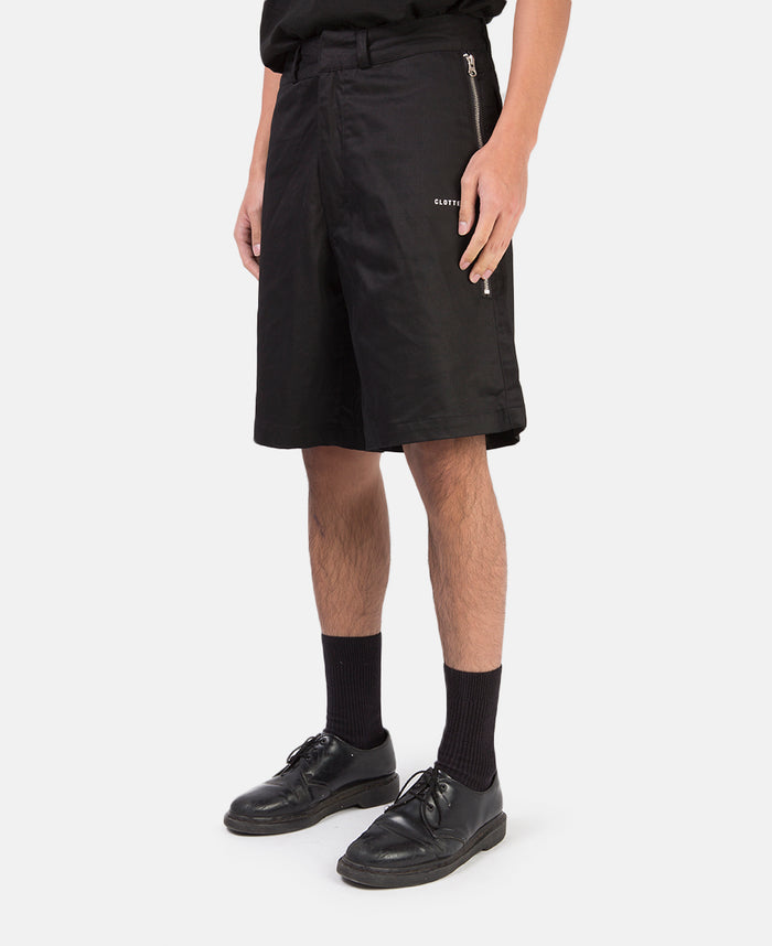 ZIP POCKET SHORTS (BLACK)