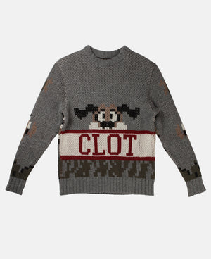 DUCK HUNTING KNIT SWEATER (GREY)