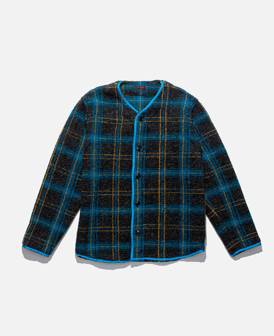 Thick Plaid Baseball Shirt (Grey)