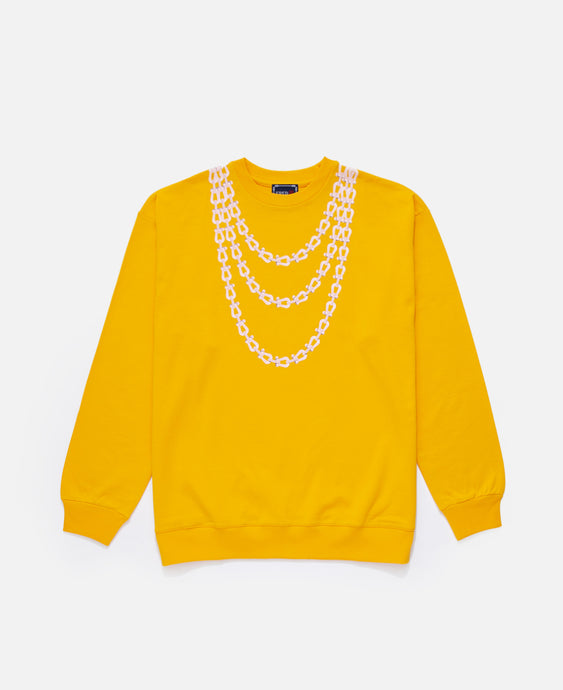 Buckles Chain Print L/S Crewneck (Yellow)