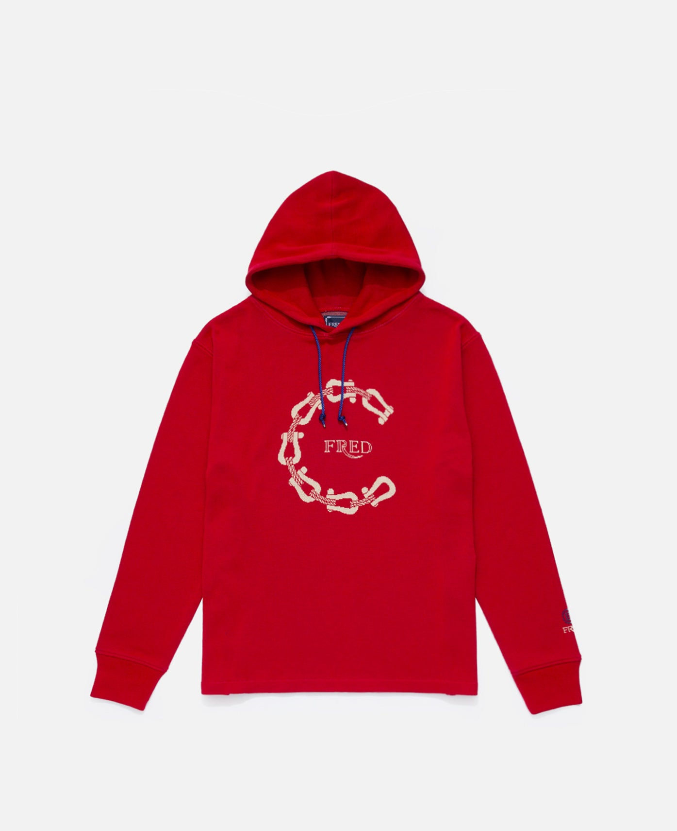 C Buckles Cotton Jacquard Hoodie (Red)