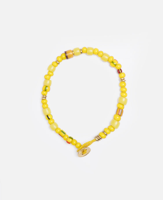 White Hearts Bracelet (Yellow)