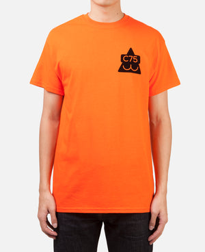 VELVET CAT HEAD TEE ORANGE