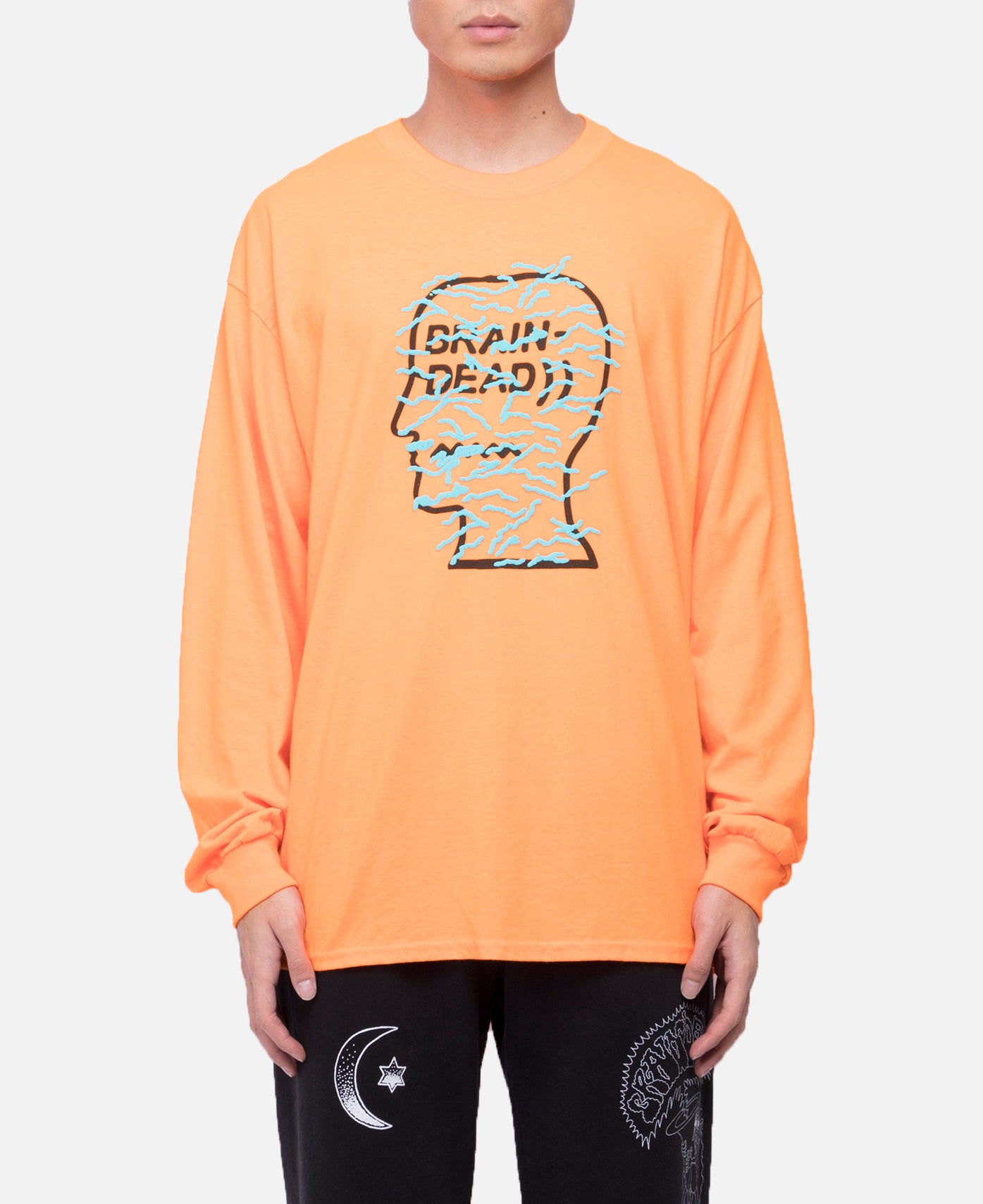Infected Logo Long Sleeve T-Shirt (Orange)