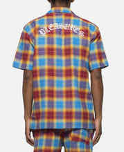 Shadow Plaid Short Sleeve Button Up