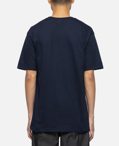 Front Logo Crew Neck T-Shirt (Navy)
