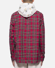Red Button Up Floral Hoodie (Red)