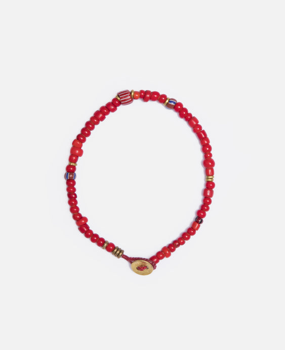 White Hearts Bracelet (Red)