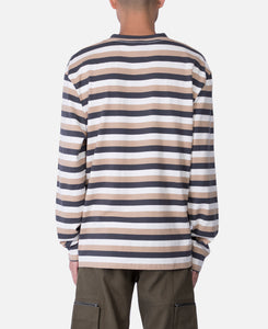 L/S Stripped Logo T-Shirt