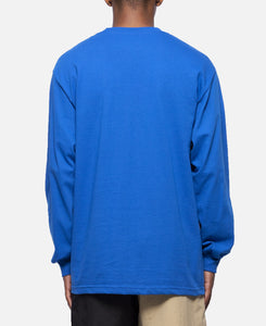 Core Logo Embroidered Long Sleeve T-Shirt (Blue)