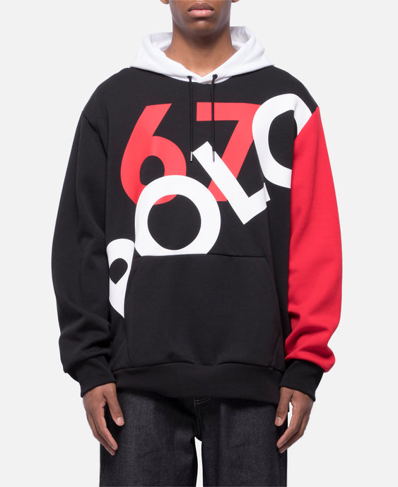 Men's Knit Pullover (Black/White/Red)