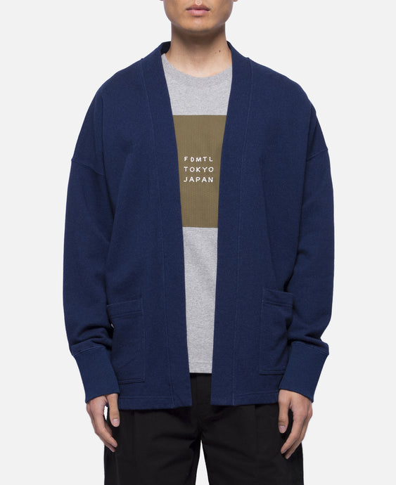 Indigo Sweat Cardigan