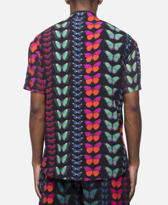 Butterfly Short Sleeve Button Up