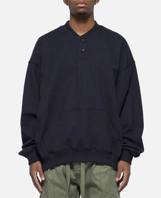 Everyday Henley Sweatshirt (Navy)