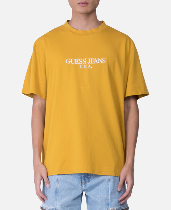 Fall Logo Crewneck T-Shirt (Yellow)