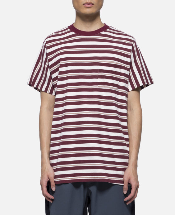 Cruiser Stripe Pocket T-Shirt (Burgundy)