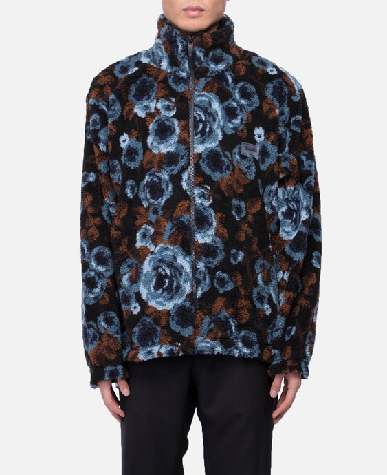 Floral Zipped Jacket (Blue)