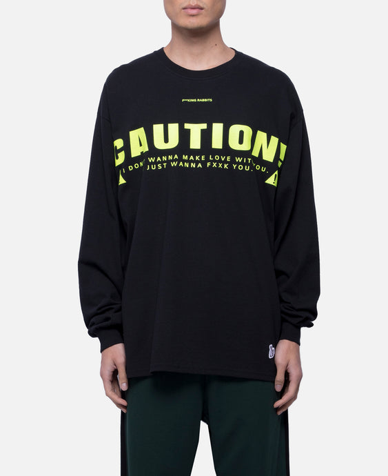Caution L/S T-Shirt (Black)