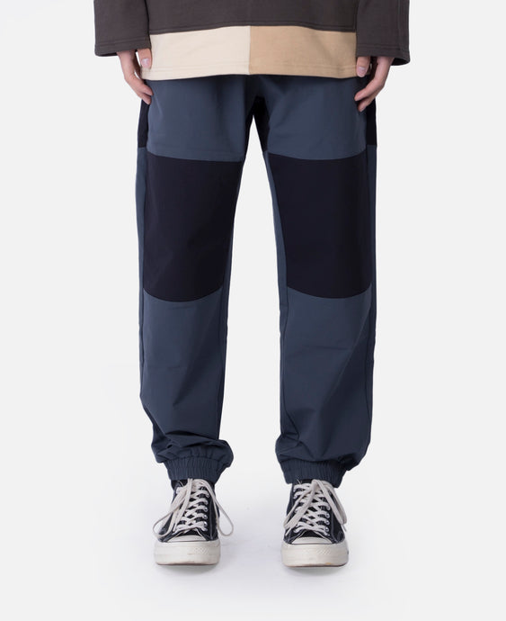 Nylon Color Block Jogger Pants