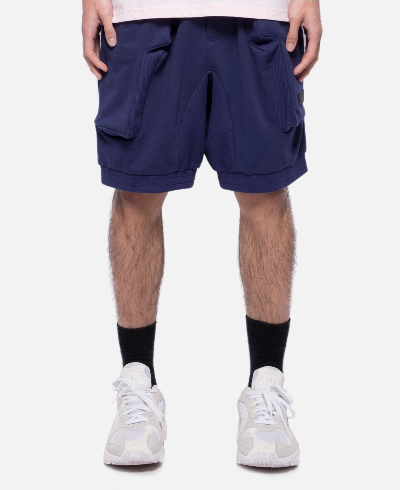 Lines In Time Duplo Shorts (Navy)