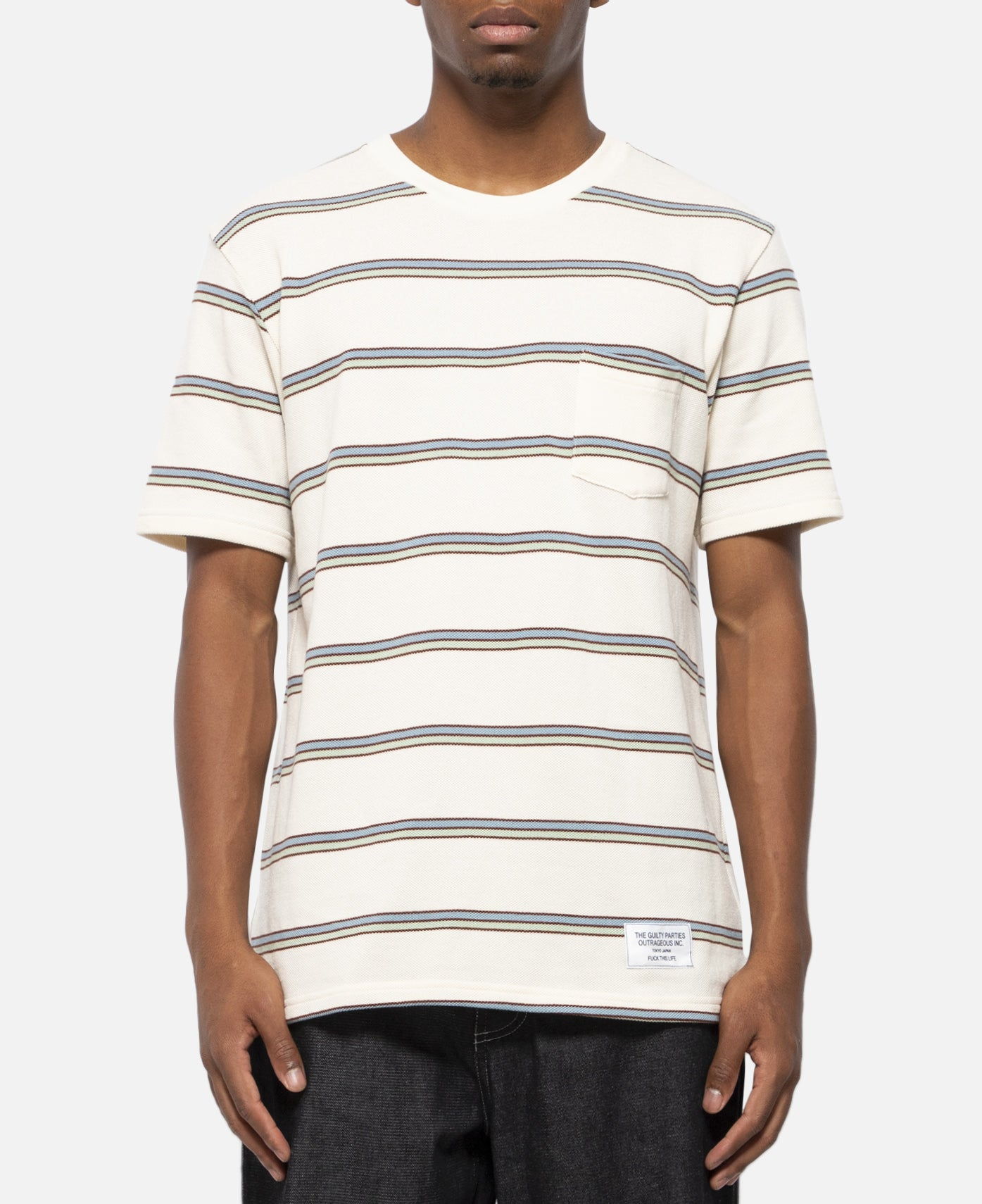 Striped Crew Neck T-Shirt (Type-2)