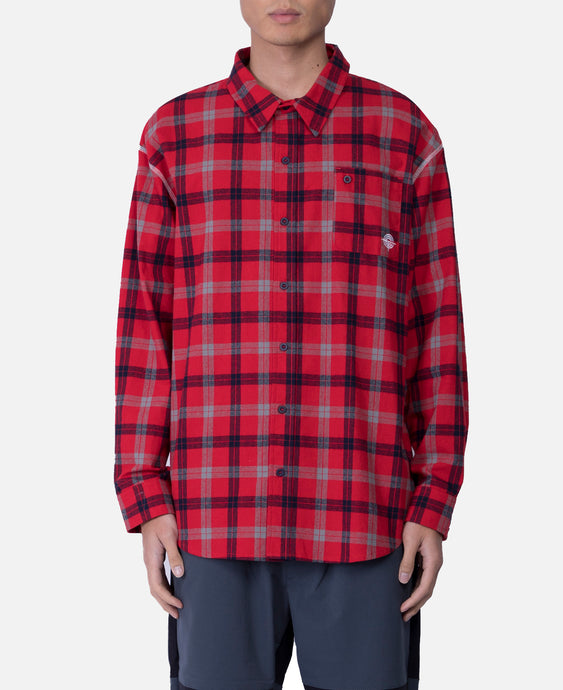 Overlock L/S Shirt (Red)