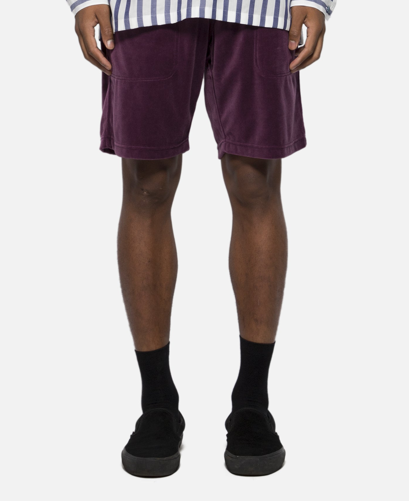 Velor Sweat Shorts (Purple)
