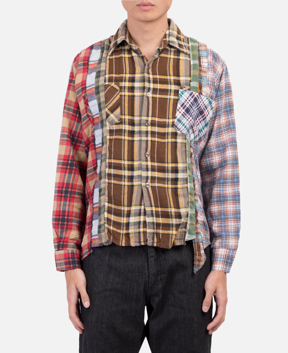 7 Cuts Flannel Shirt (Brown)