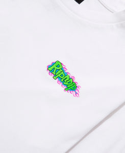 Flaming Hot L/S T-Shirt (White)