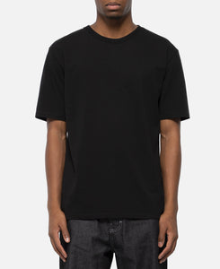 Washed Heavy Weight Crew Neck T-Shirt (Type-3) (Black)
