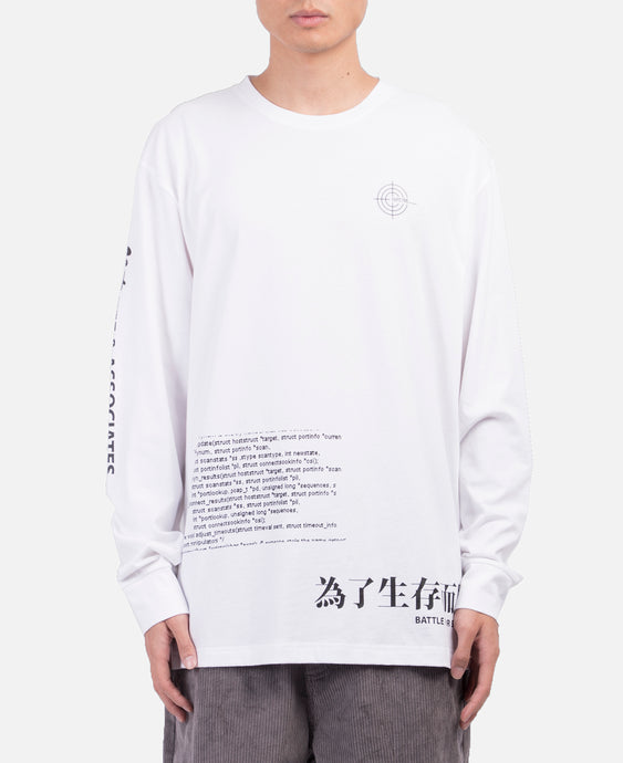 Associates Graphics L/S T-Shirt (White)