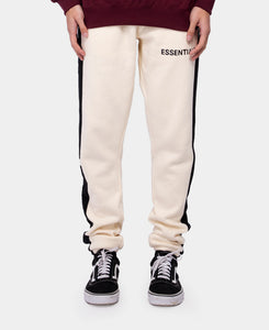 Paneled Sweatpants (Cream)