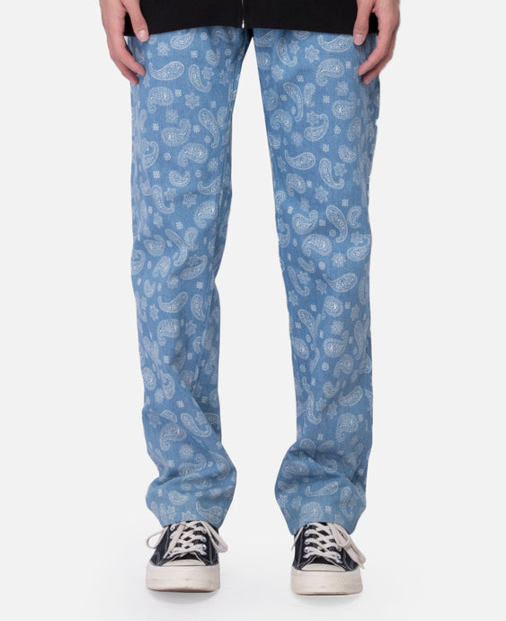 Paisley Denim Pant