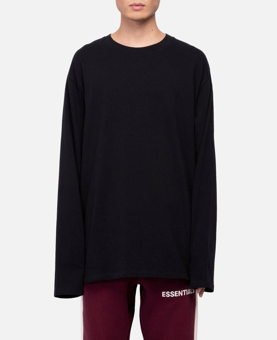Boxy Graphic L/S T-Shirt (Black)