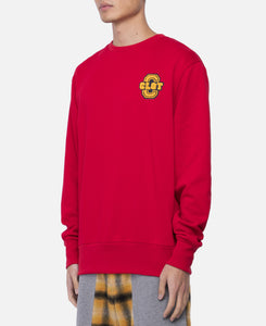 Applique Crewneck Sweat (Red)