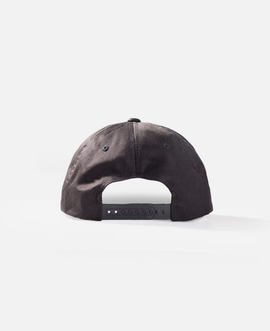 MID WT TERRY 6 PANEL HAT (BLACK)