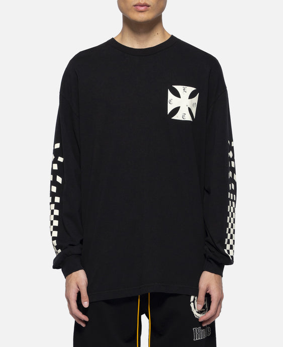 'Malibu Hong Kong' L/S T-Shirt (Black)