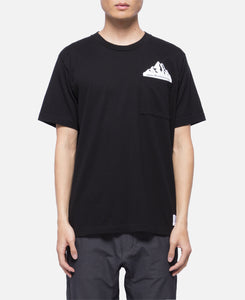 Printed Pocket T-Shirt (Black)