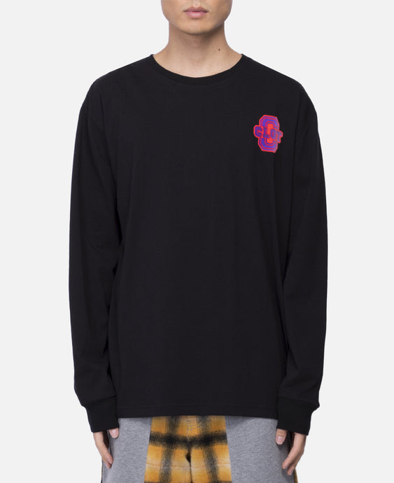 Flocking L/S T-Shirt (Black)