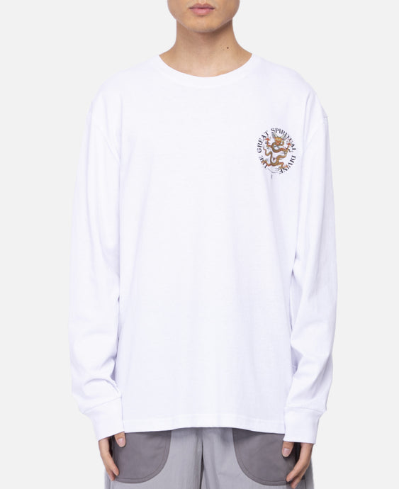 Spiritual Dragon L/S T-Shirt (White)