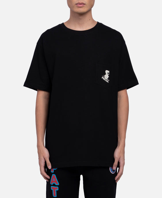 Snow Blower Pocket T-Shirt (Black)