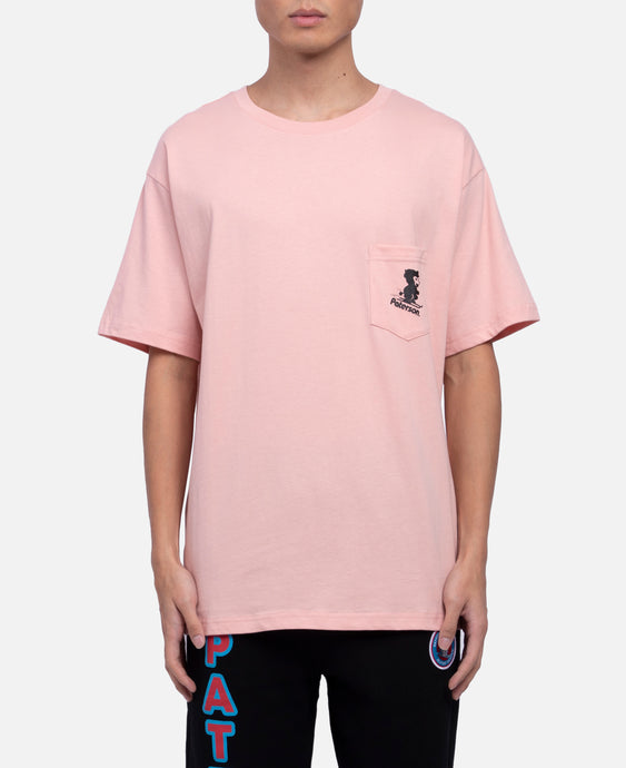 Snow Blower Pocket T-Shirt (Pink)