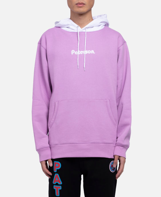 Two Tone Pull Over Hoodie (Purple)