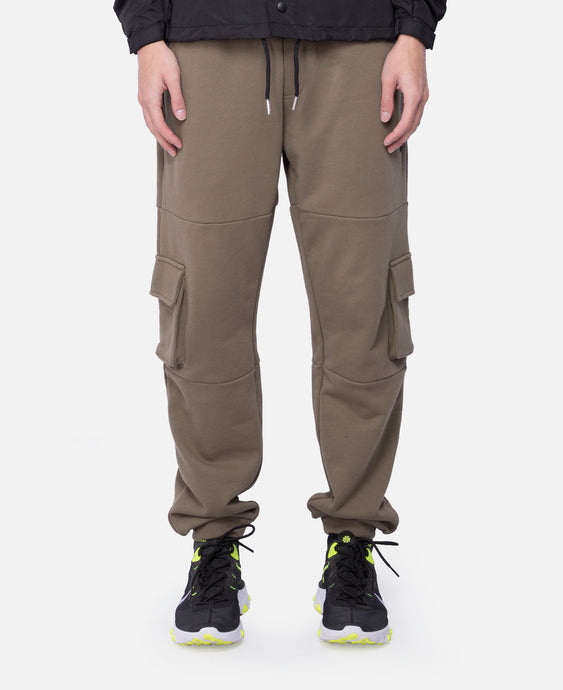 Cotton Color Block Jogger Pants (Green)
