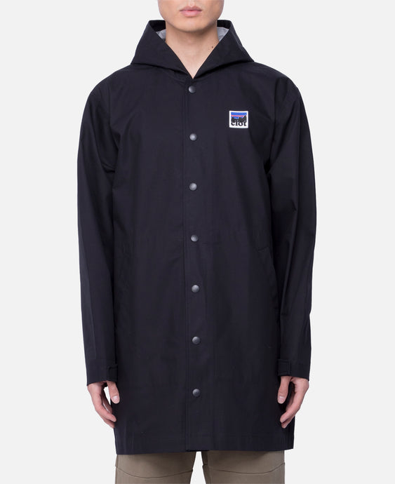 Hooded Long Coach Jacket