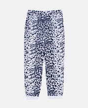 Leopard Flocky Track Pants (White)