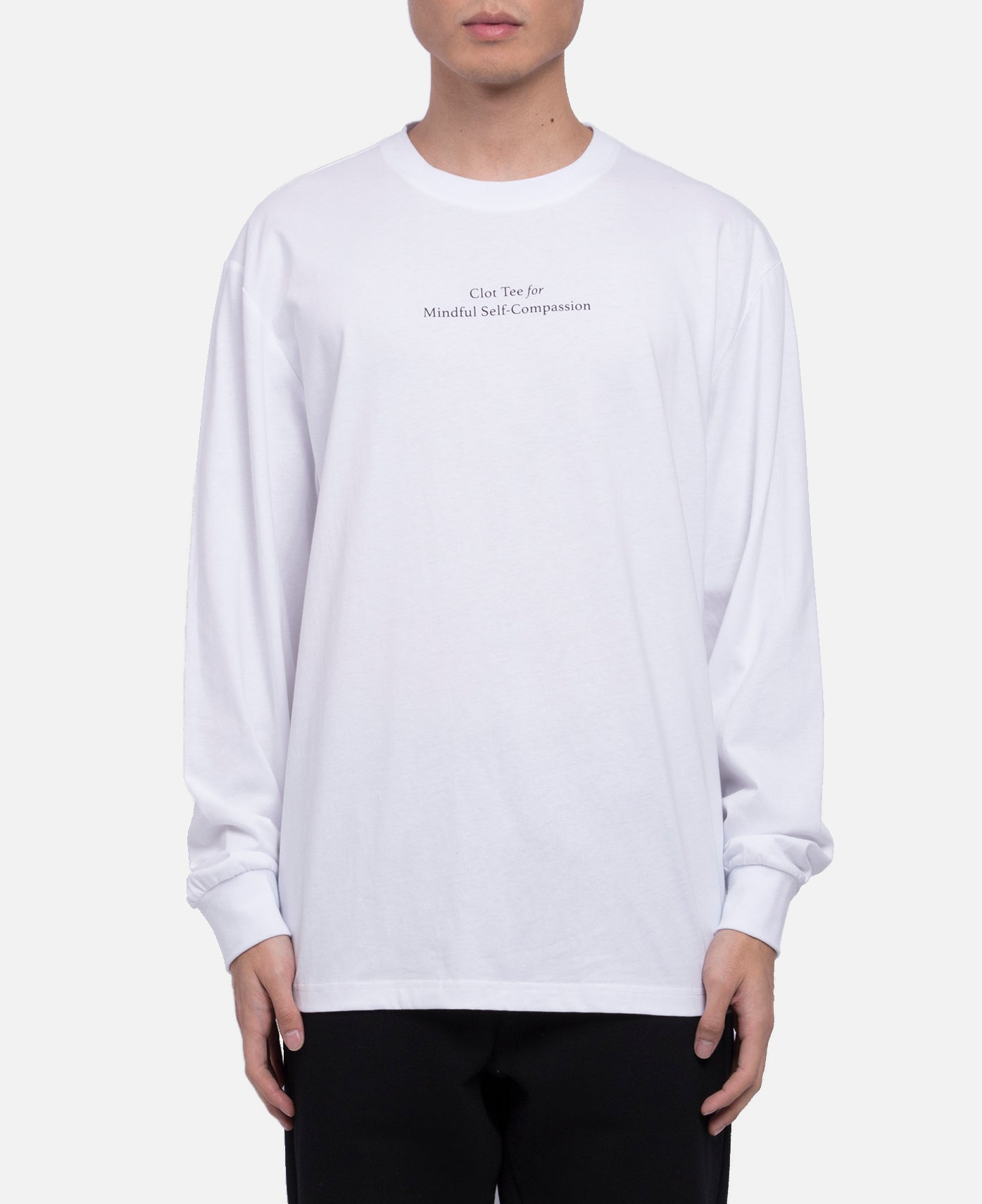 Mindful Self Compassion L/S T-Shirt (White)